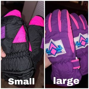 90s Ski Gloves 2 different kinds Small and Large
